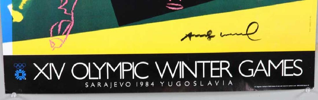 Andy Warhol Autographed '83 Olympics Poster - 4