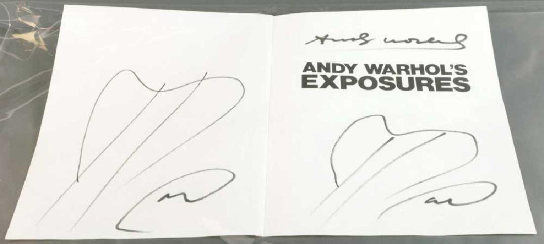 Andy Warhol Autographed Book Pages