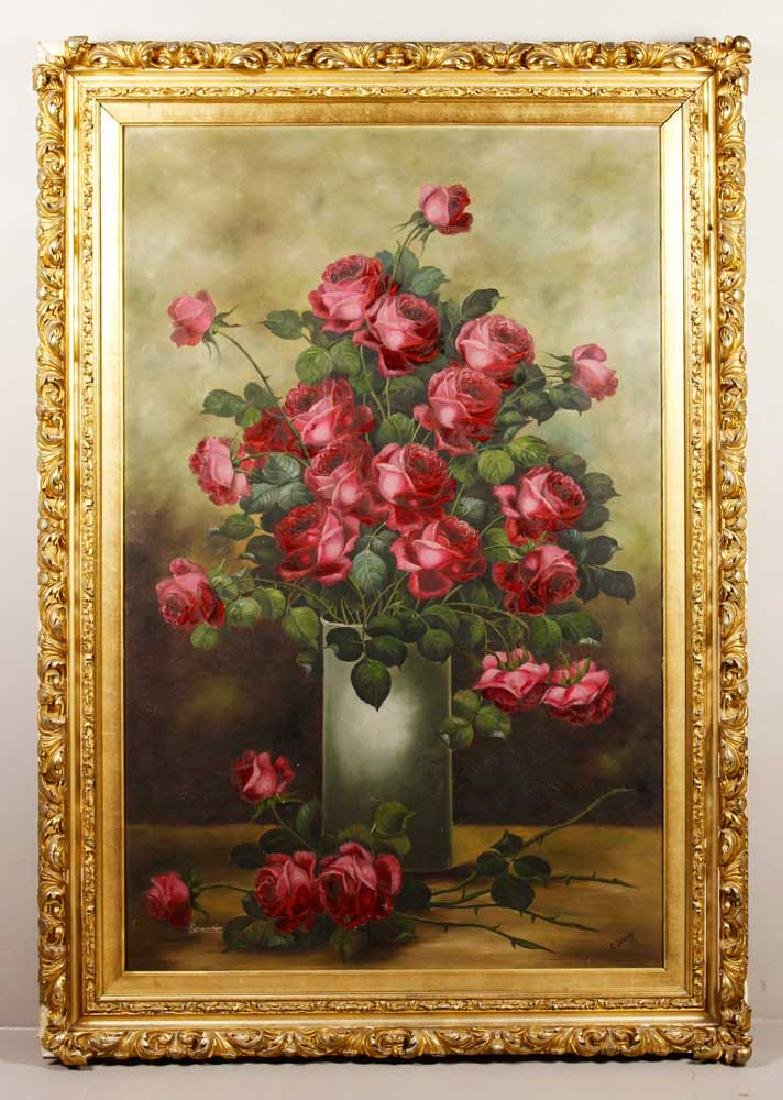Still Life with Roses, Oil on Canvas