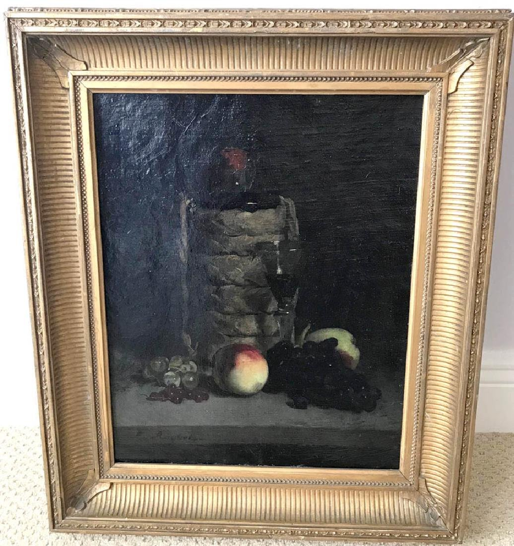 F. Roybet, Table Top Still Life, Oil on Canvas