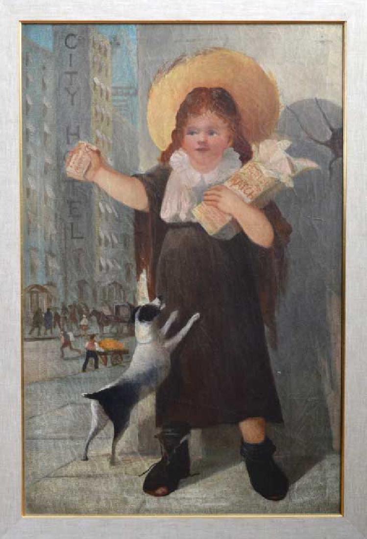 Pair of Boston Folk Genre Paintings - 2