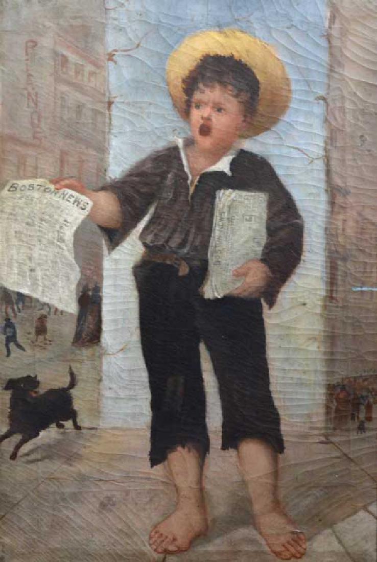 Pair of Boston Folk Genre Paintings - 3