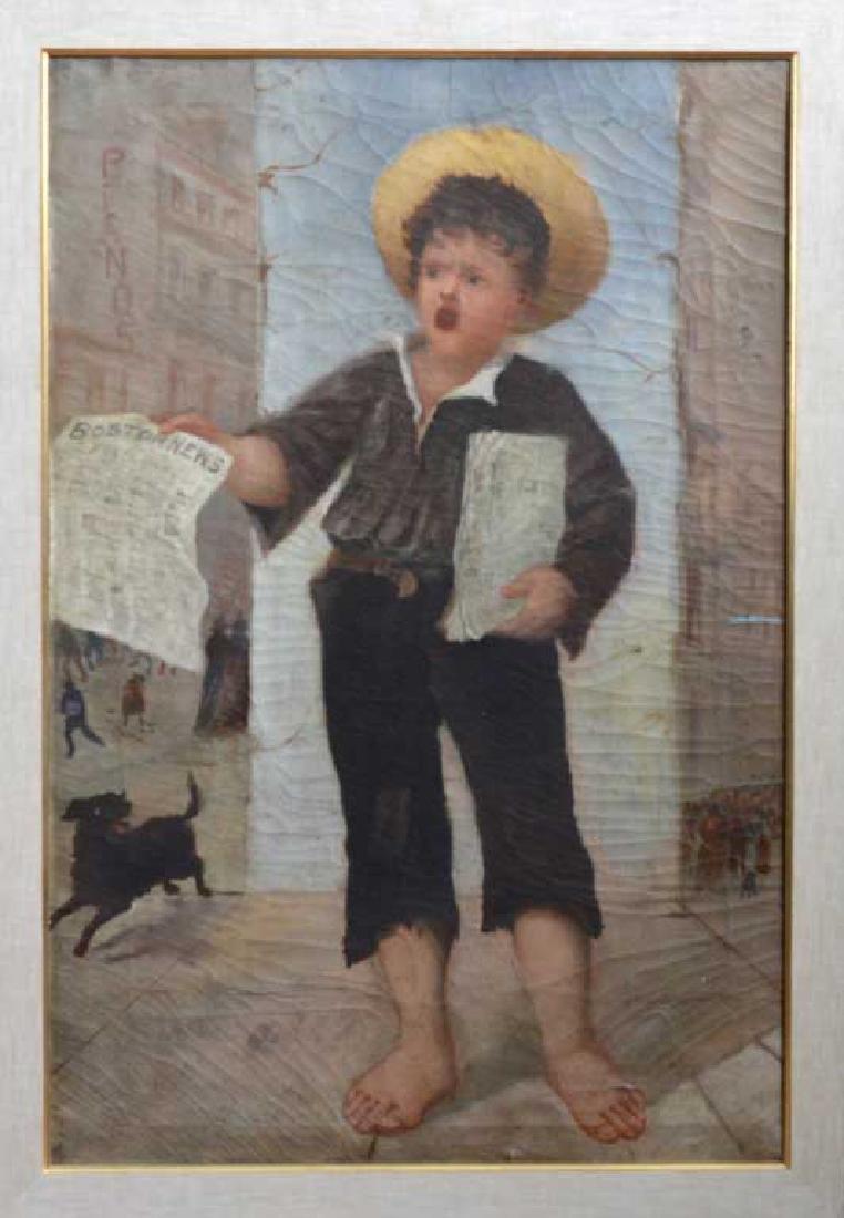 Pair of Boston Folk Genre Paintings - 4