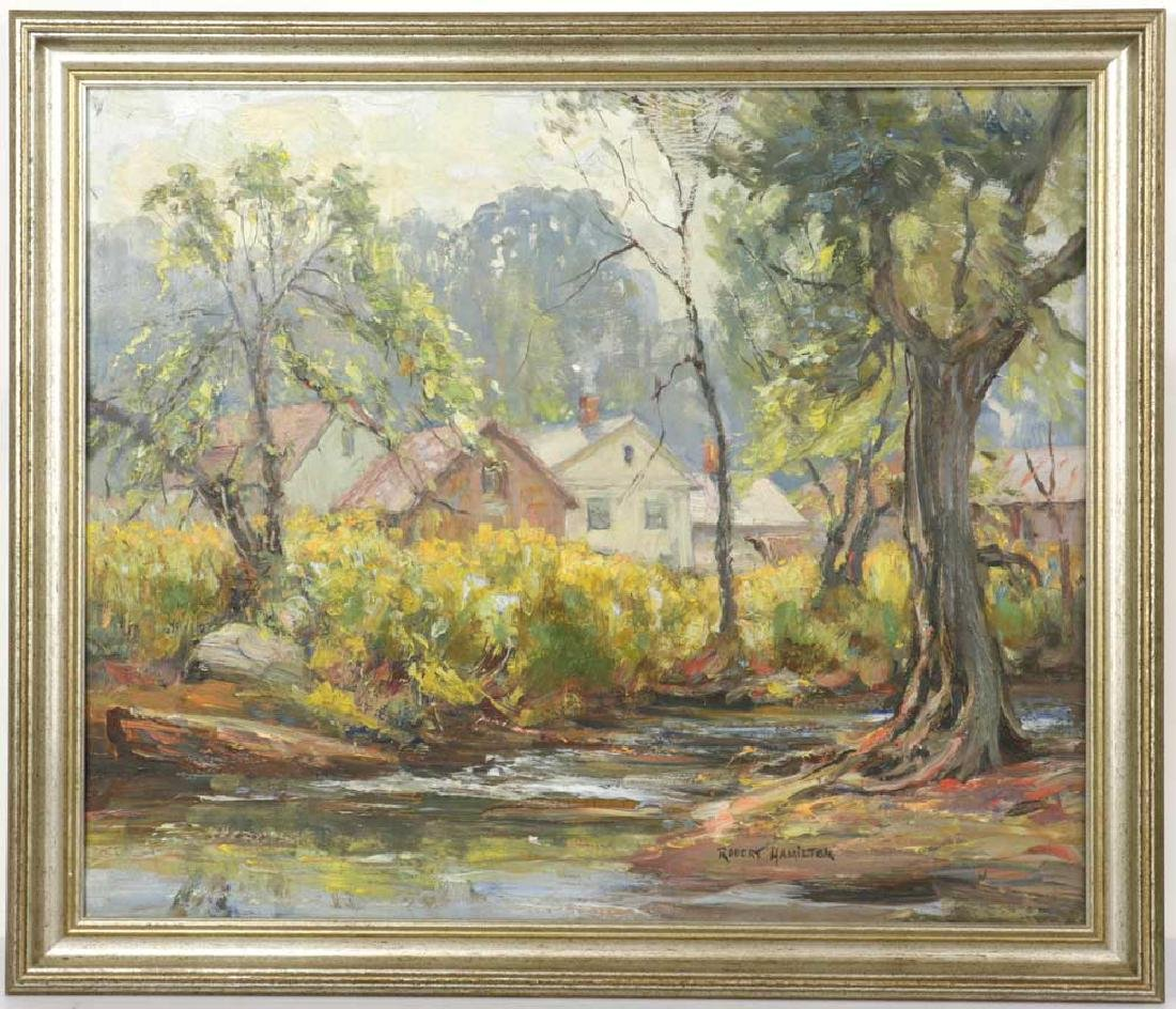 Robert Hamilton, The Brook, Oil on Board