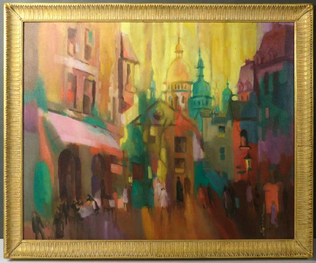 Joanna Secor Signed, Montmartre, Oil on Canvas