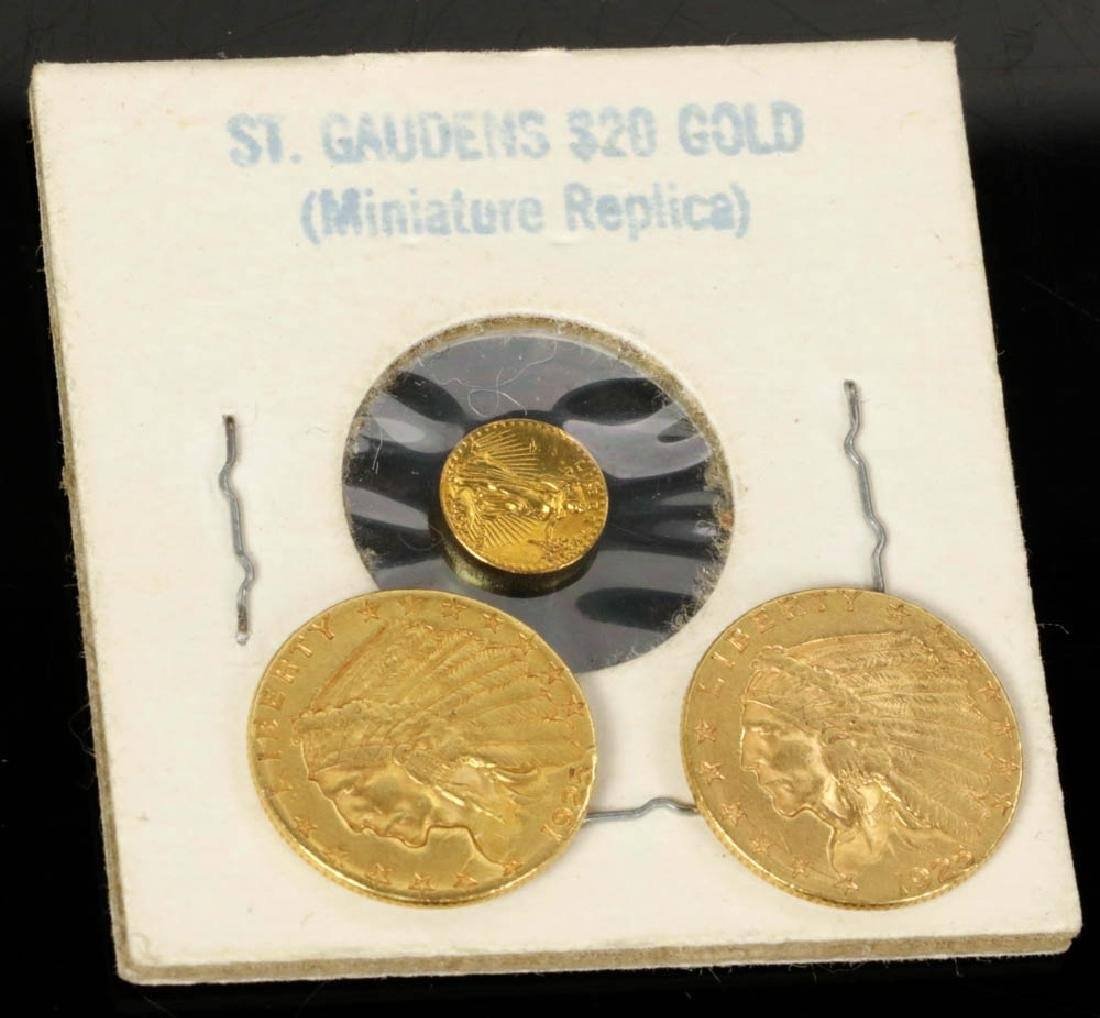 Two Indian Head  Gold Quarter Eagle Coins