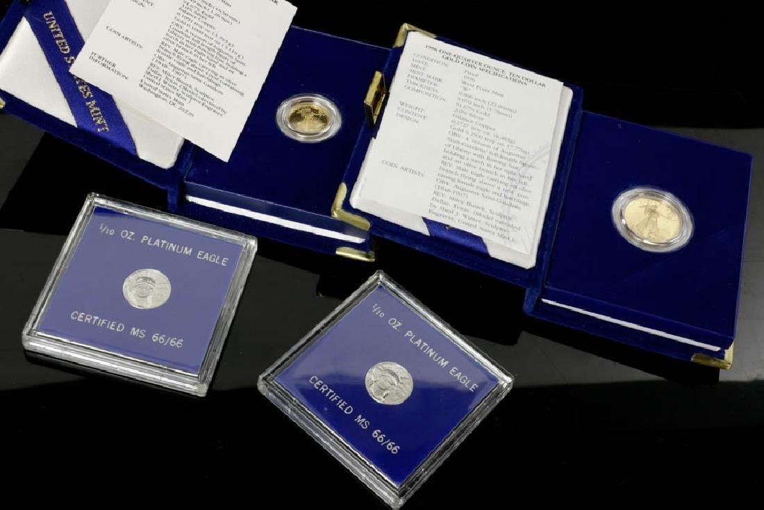 Four US Mint Gold & Platinum Coins
