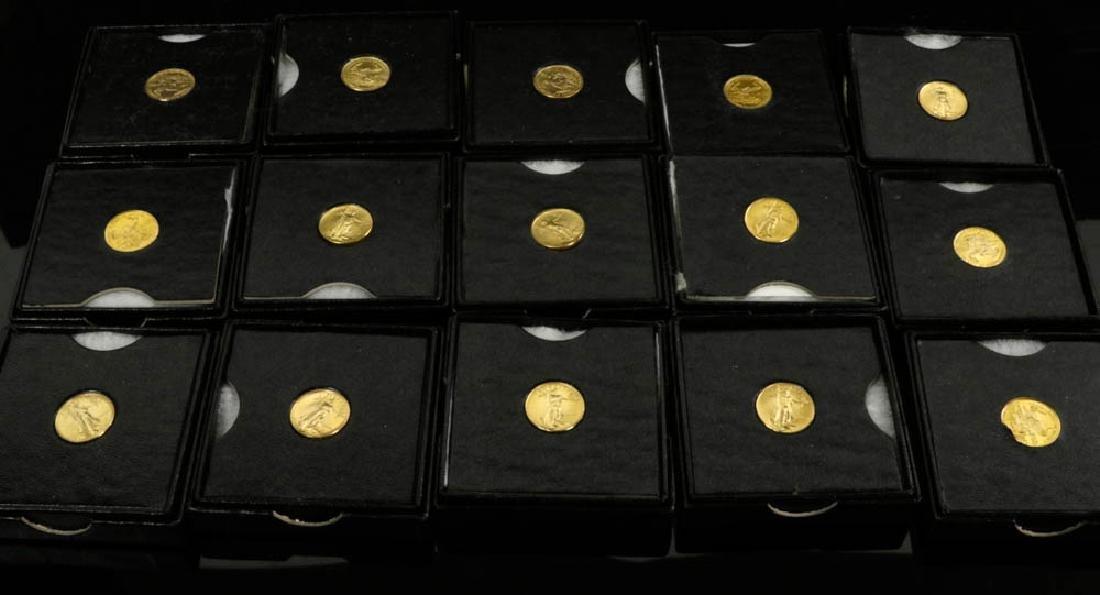 (15) 1986 5-dollar St. Gaudens Gold Coins