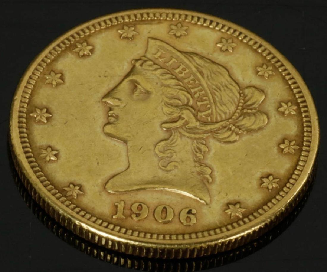 1906 D Liberty Head Gold Eagle Coin