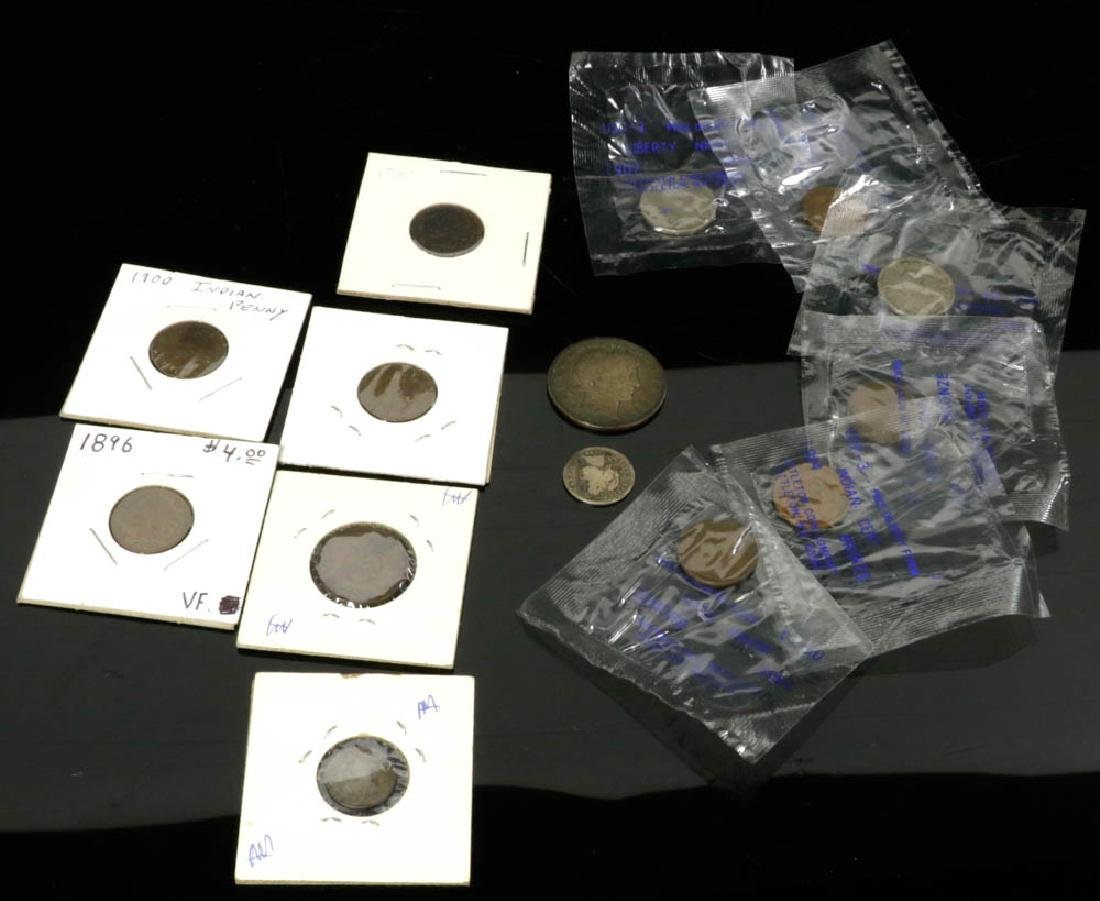 Collection of (14) 19th/early 20th C. US Coins