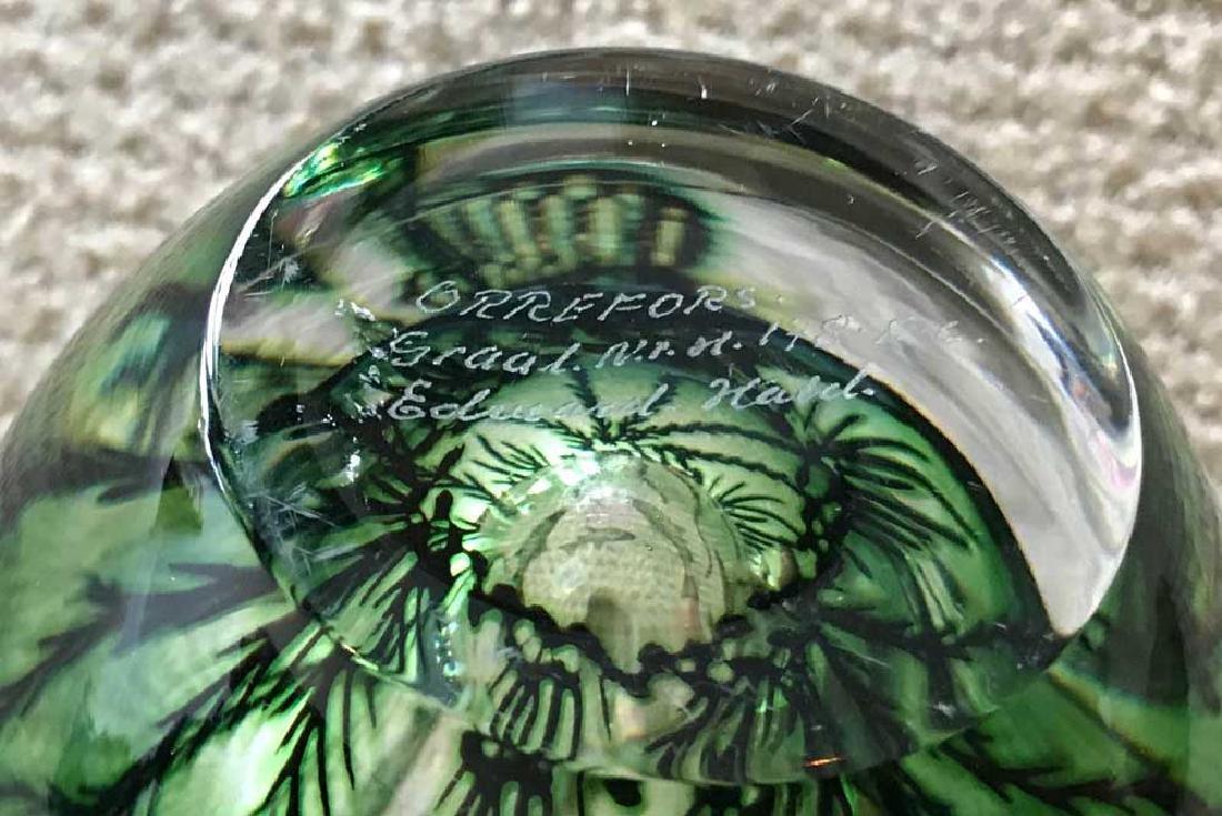 Orrefors Crystal Vintage Fish Motif Vase - 4
