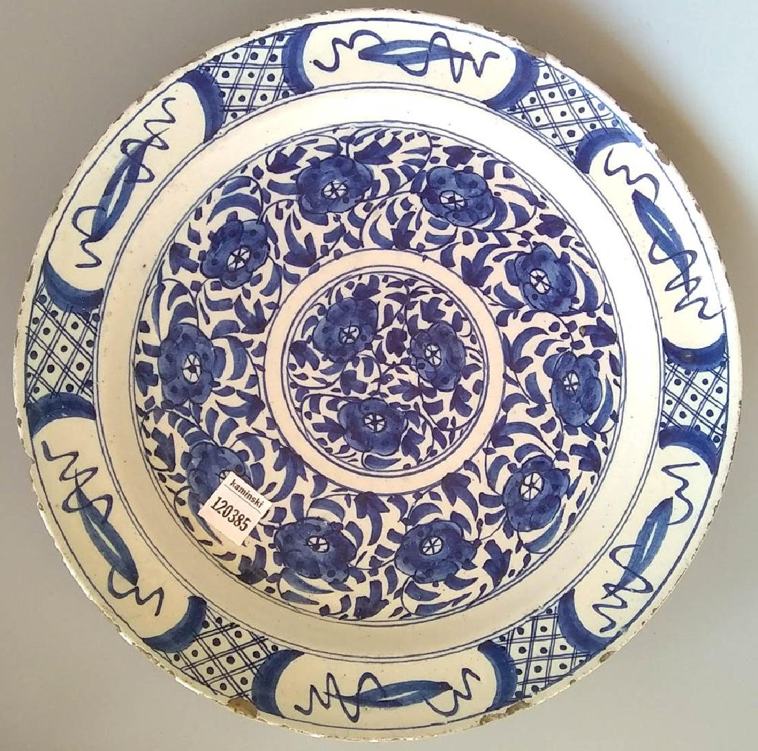 18th C. Delft Tin-Glazed Charger