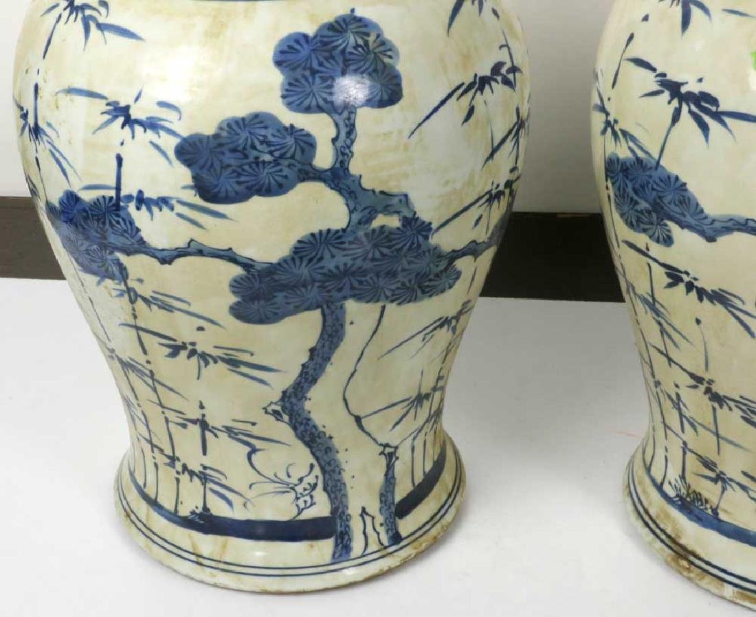 Pair of Chinese Porcelain Temple Jars - 5