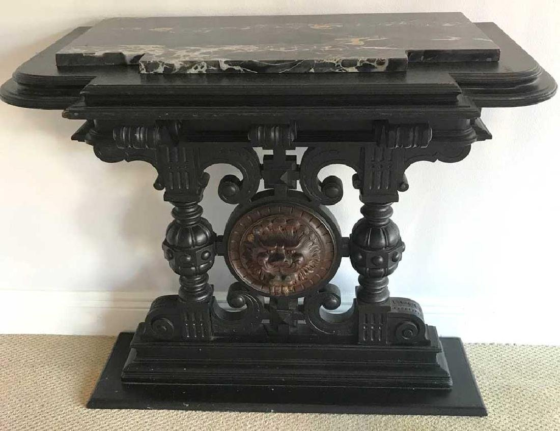 19th C. English Pier Table w/ Black Marble