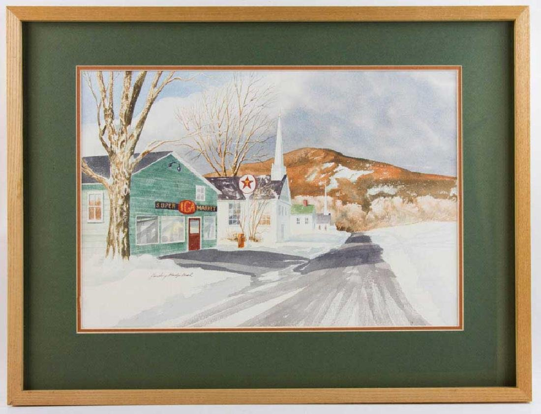 Harding Mudge Bush, Super IGA Market, Watercolor