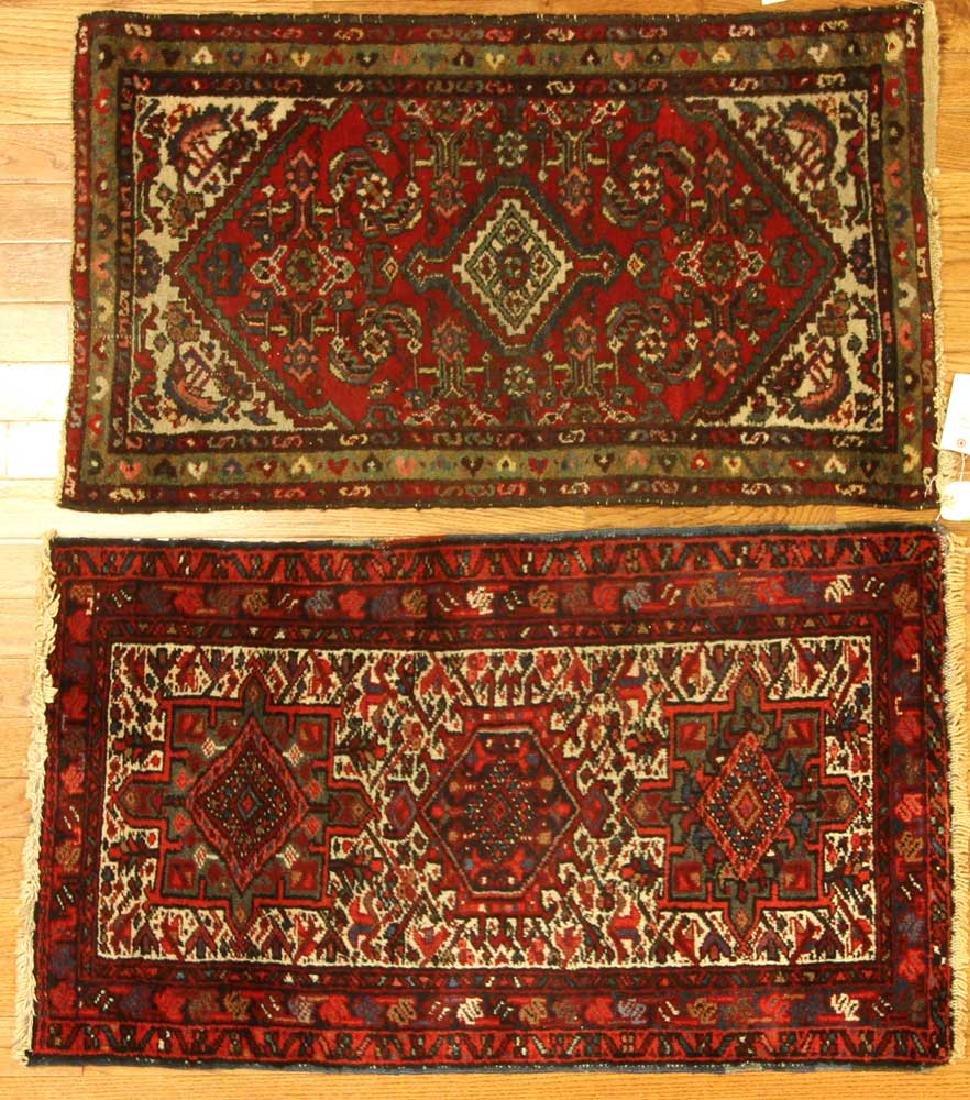 Two Semi-antique Persian Hamadan Rugs