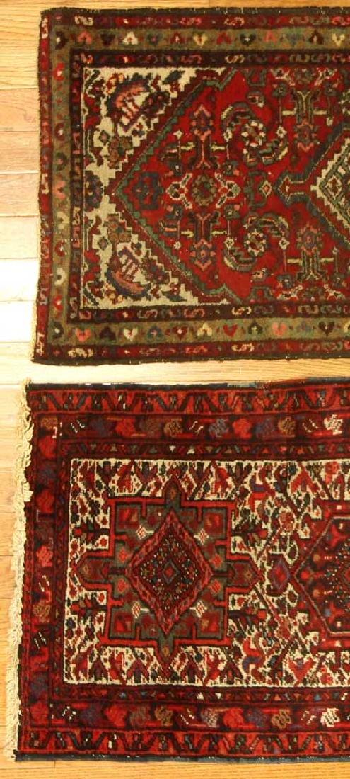 Two Semi-antique Persian Hamadan Rugs - 2