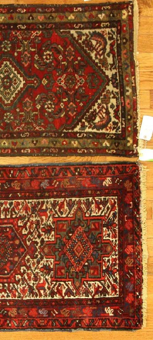 Two Semi-antique Persian Hamadan Rugs - 3