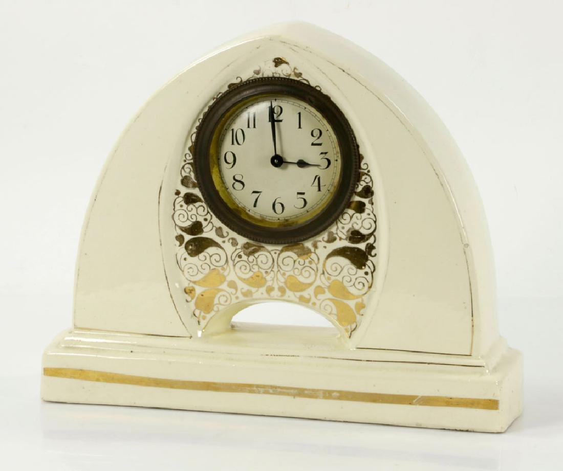 Austrian Art Nouveau Ceramic Mantel Clock