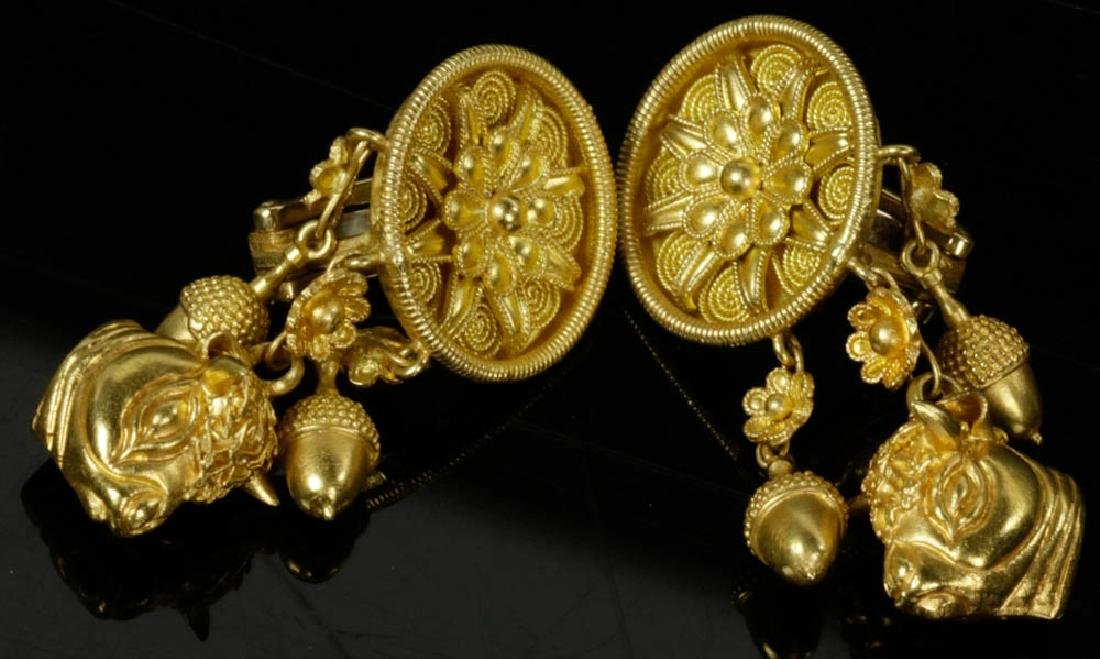 Ladies 18k Gold Earrings by Lalaounis