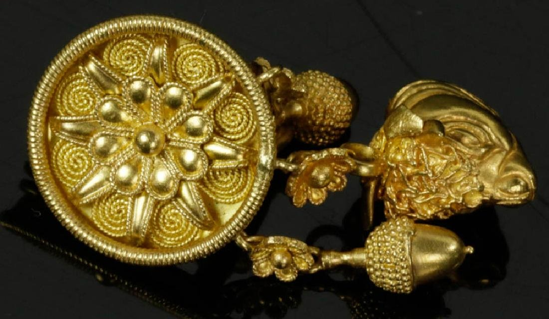 Ladies 18k Gold Earrings by Lalaounis - 2