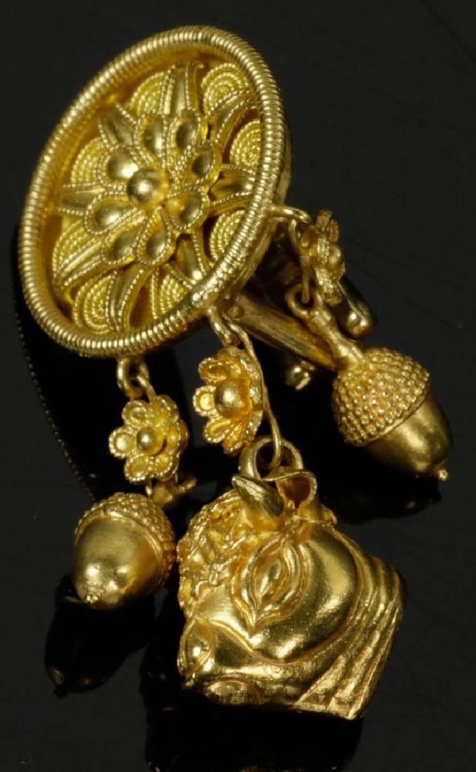 Ladies 18k Gold Earrings by Lalaounis - 3