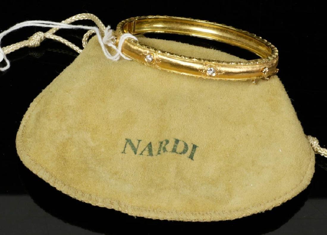 Ladies Fabbrini 18k Gold Diamond Bracelet