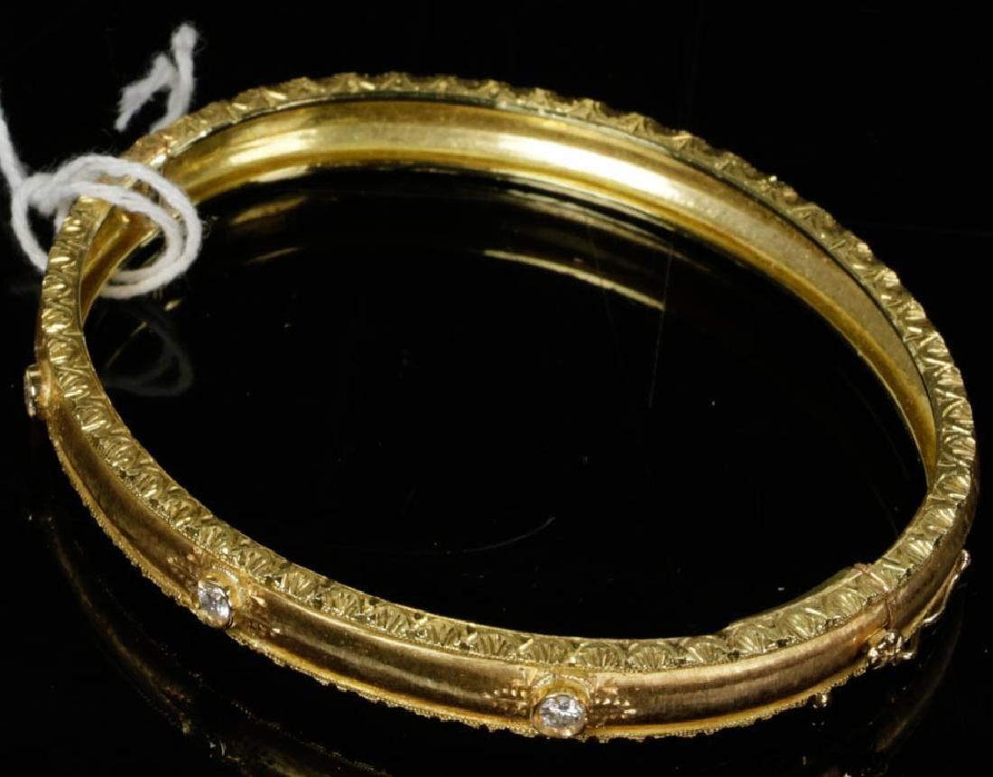 Ladies Fabbrini 18k Gold Diamond Bracelet - 2