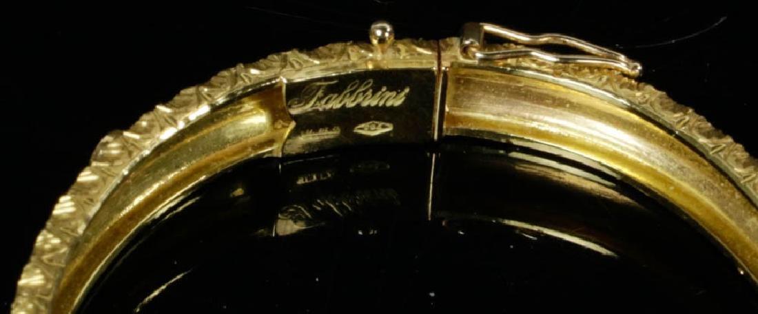 Ladies Fabbrini 18k Gold Diamond Bracelet - 4