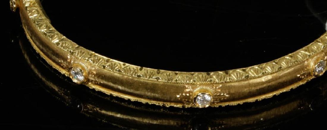 Ladies Fabbrini 18k Gold Diamond Bracelet - 5
