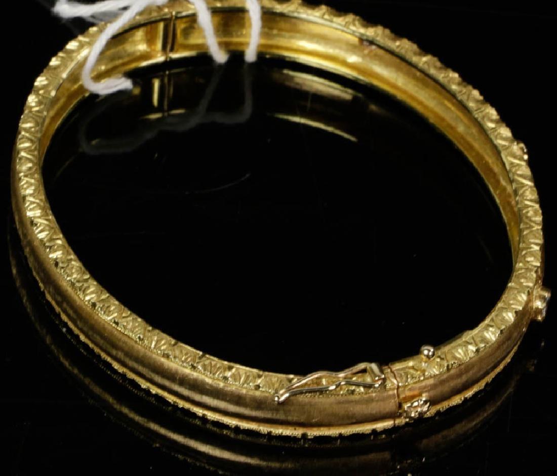 Ladies Fabbrini 18k Gold Diamond Bracelet - 6