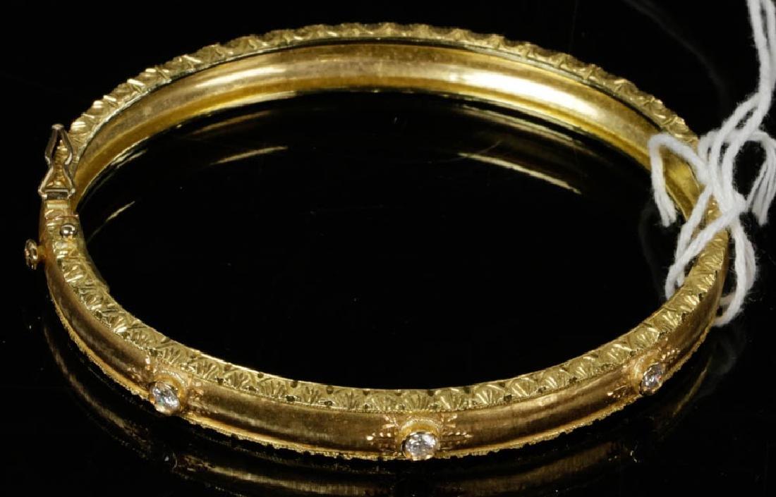 Ladies Fabbrini 18k Gold Diamond Bracelet - 7