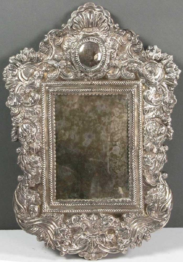 19th C. Spanish Colonial Solid Silver Mirror