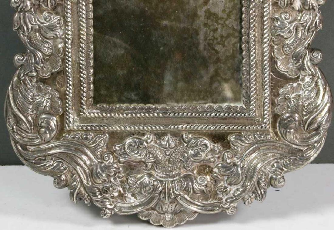 19th C. Spanish Colonial Solid Silver Mirror - 3