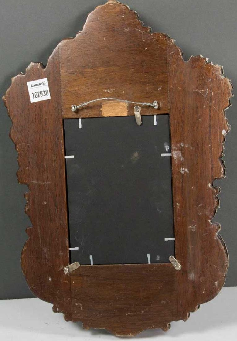 19th C. Spanish Colonial Solid Silver Mirror - 4