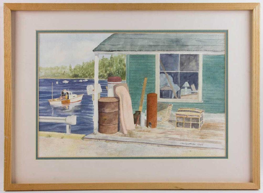 Harding Mudge Bush, Fisherman's House, Watercolor