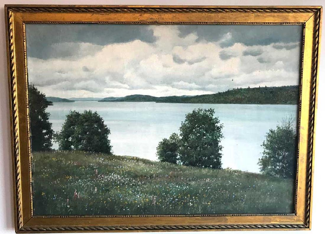 Harry Waldow, Lake View, Oil on Canvas