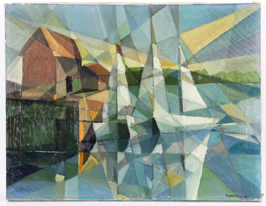 Hardenbergh, Modernist Coast, Oil on Canvas