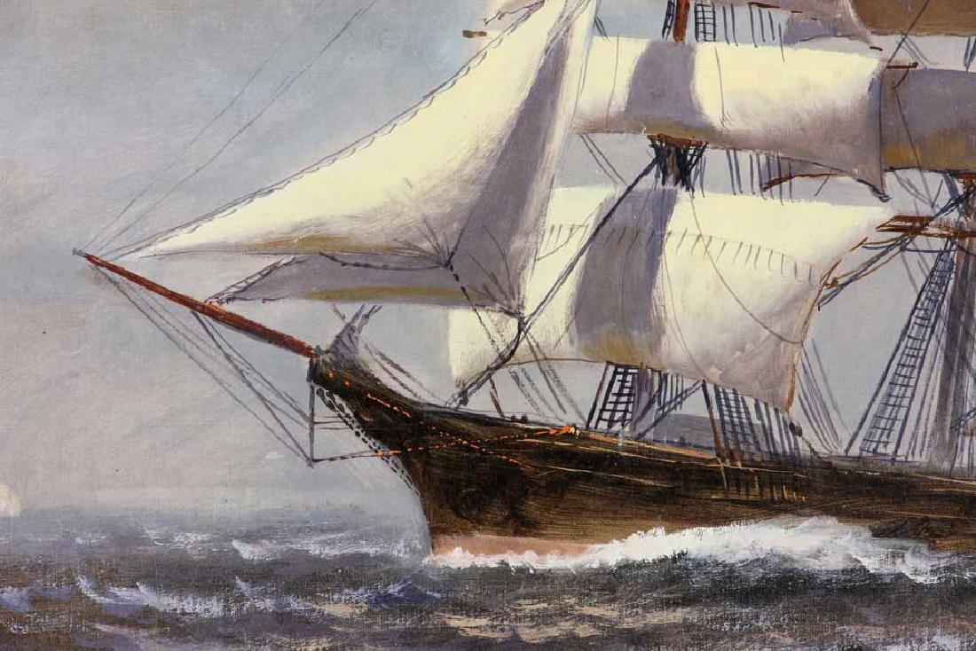 Bailey, Ship Under Full Sail, Oil on Canvas - 2