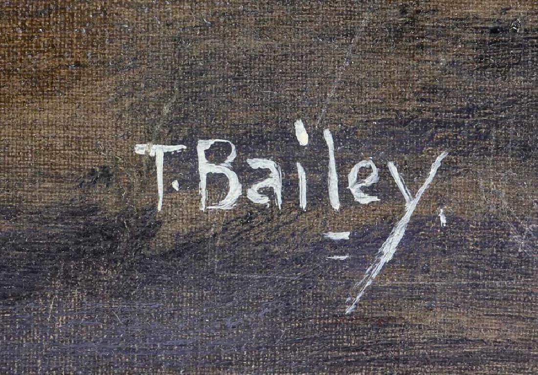 Bailey, Ship Under Full Sail, Oil on Canvas - 5