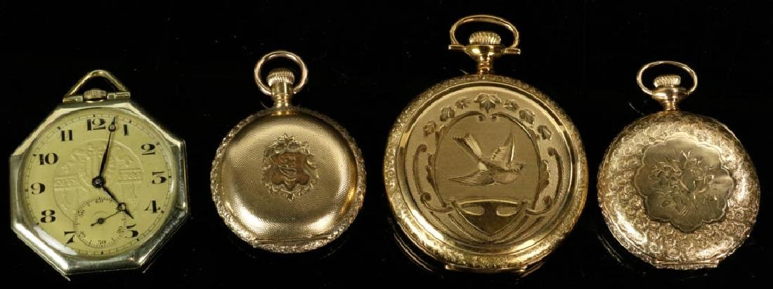 Four Gold Pocket Watches