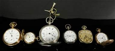 Six Gold  Silver Pocket Watches