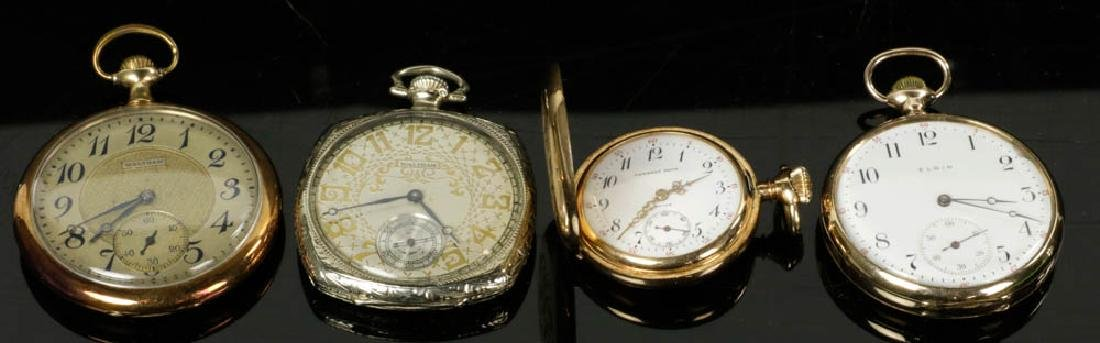 Four 14k Gold Pocket Watches