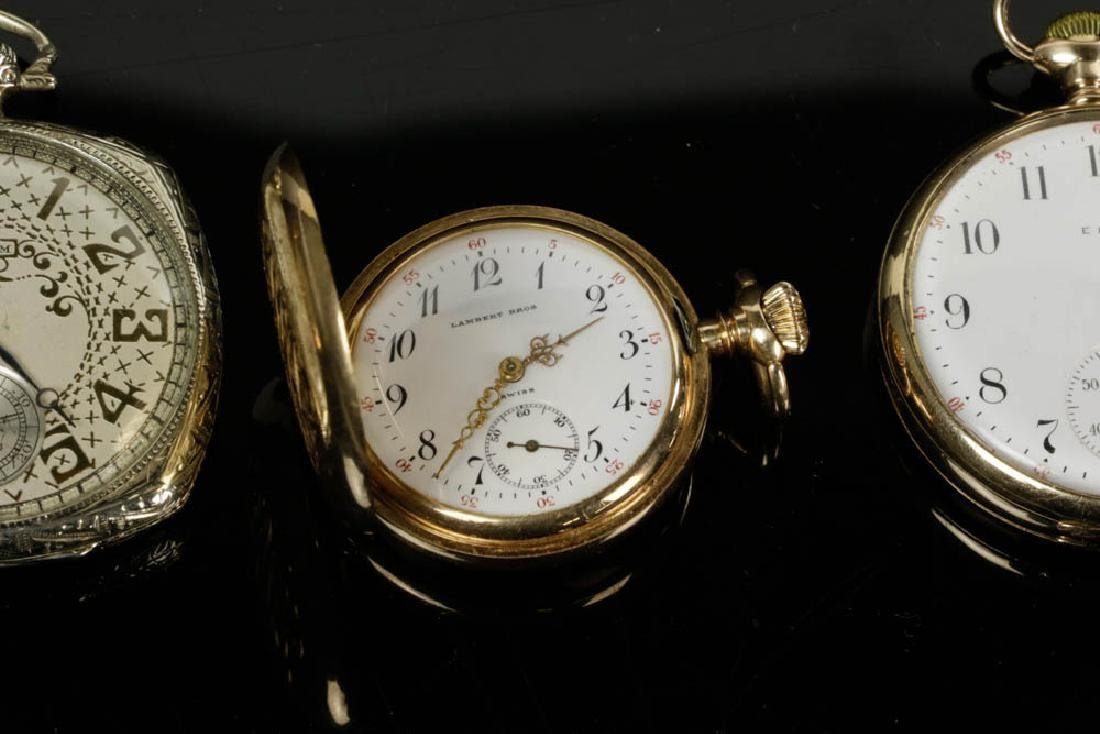 Four 14k Gold Pocket Watches - 3