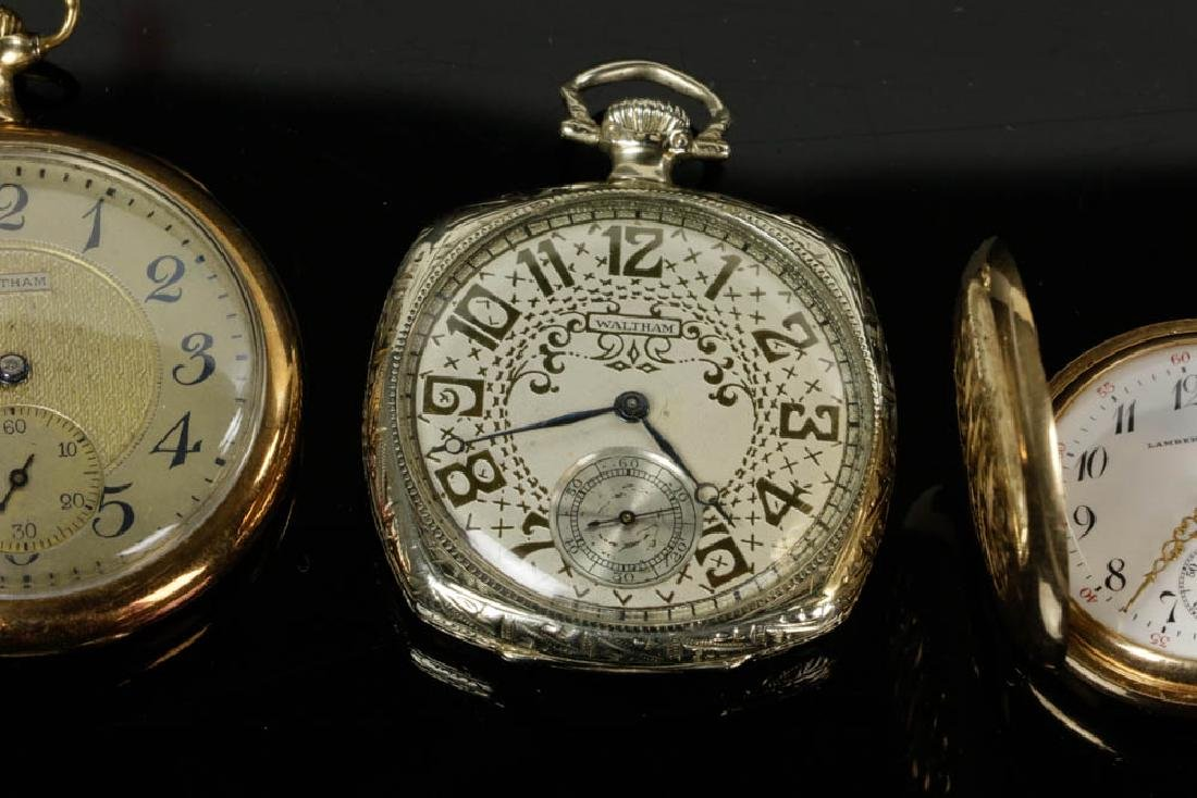 Four 14k Gold Pocket Watches - 4