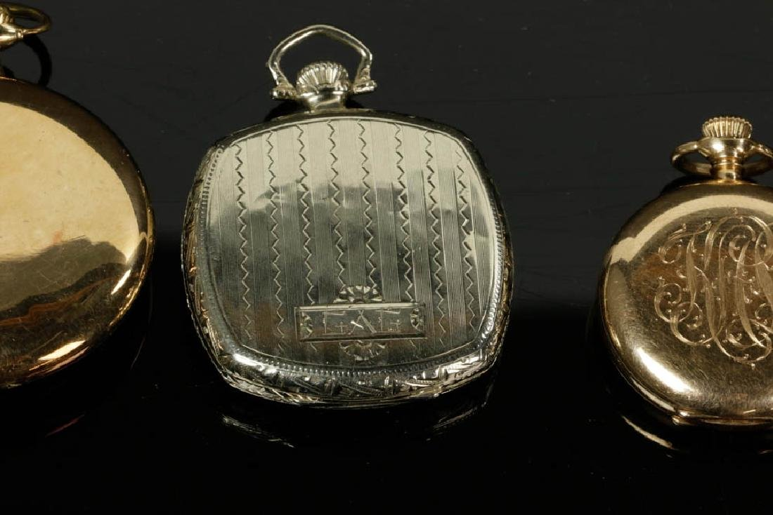 Four 14k Gold Pocket Watches - 7