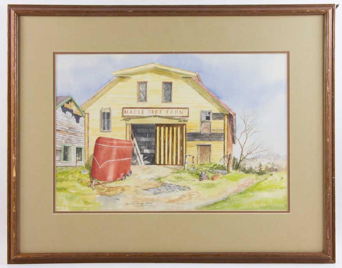 Harding Mudge Bush, Maple Tree Farm, Watercolor