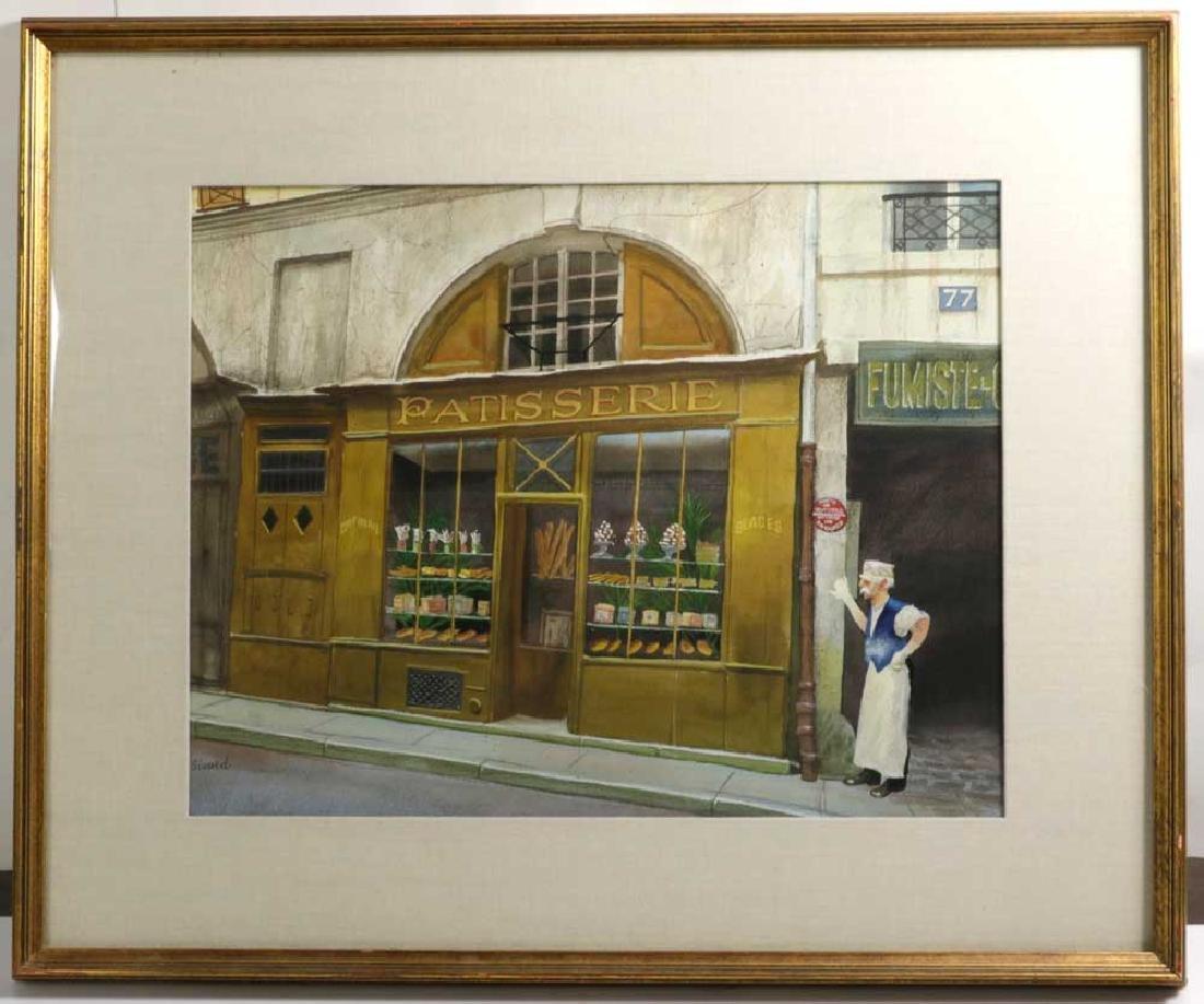 Robert Paul Sivard, Patisserie Scene, Watercolor