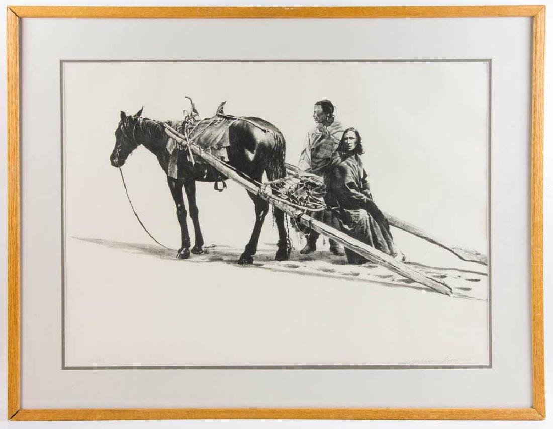 William Nelson, Indians and Horse, Print