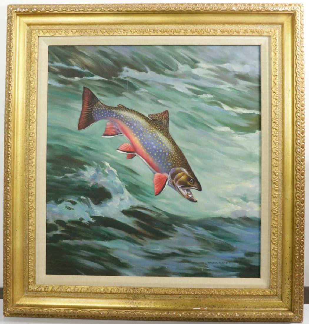 Walter A. Weber, Salmon, Oil on Canvas